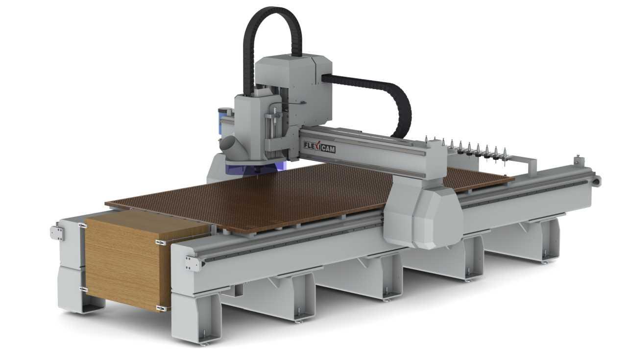 FlexiCAM XL-1530 Custom, Vertical Material Mount (HD)