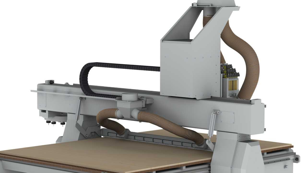 FlexiCAM XL 2040 RTC, Boring Block, Sweeper, Backside View (HD)
